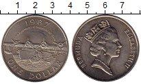 Изображение Монеты Великобритания Бермудские острова 1 доллар 1987 Медно-никель XF