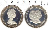 Изображение Монеты Великобритания Фолклендские острова 50 пенсов 1981 Серебро Proof-