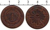 Изображение Монеты Уругвай 1 сентесимо 1869 Медь XF