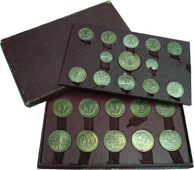 Изображение Подарочные монеты Камерун Набор пробных монет Французских колоний и заморских территорий 0 Медно-никель UNC ESSAI. Набор пробных