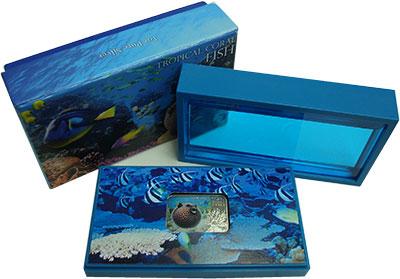 Изображение Подарочные монеты Ниуэ 1 доллар 2013 Серебро Proof Тропические рыбы кор