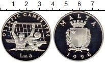 Изображение Монеты Мальта 5 лир 1996 Серебро Proof