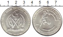 Изображение Монеты Сахара 500 песет 1991 Серебро UNC