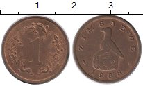 Изображение Монеты Зимбабве 1 цент 1988 Бронза XF