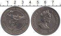 Изображение Монеты Великобритания Остров Вознесения 50 пенсов 1995 Медно-никель UNC-