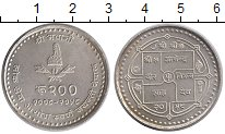 Изображение Монеты Непал 200 рупий 2002 Серебро UNC-