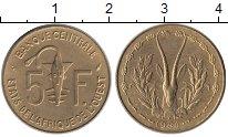 Изображение Монеты Великобритания Западная Африка 5 франков 1984 Латунь UNC-