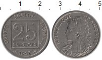 Изображение Монеты Франция 25 сантим 1903 Медно-никель XF