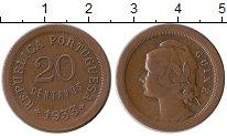 Изображение Монеты Гвинея-Бисау 20 сентаво 1933 Бронза XF