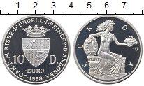 Изображение Монеты Андорра 10 динерс 1998 Серебро Proof