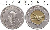 Изображение Монеты Андорра 20 динерс 1999 Биметалл UNC