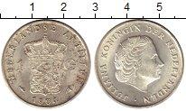 Изображение Монеты Антильские острова 1 гульден 1964 Серебро UNC-