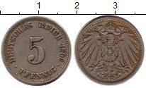 Изображение Монеты Германия 5 пфеннигов 1906 Медно-никель VF