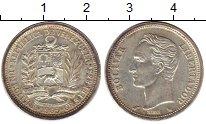 Изображение Монеты Венесуэла 1 боливар 1965 Серебро XF