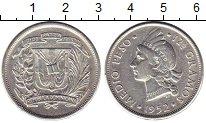 Изображение Монеты Доминиканская республика 1/2 песо 1952 Серебро VF
