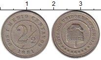 Изображение Монеты Колумбия 2 1/2 сентаво 1881 Медно-никель XF