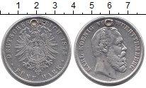 Изображение Монеты Германия Вюртемберг 5 марок 1875 Серебро VF