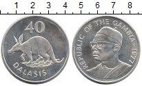 Изображение Монеты Гамбия 40 даласи 1977 Серебро UNC-