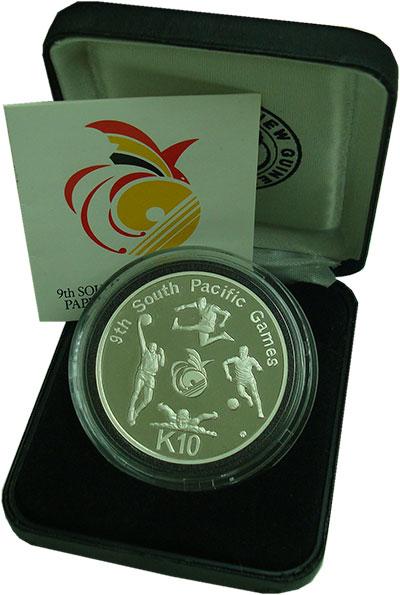 Изображение Подарочные монеты Папуа-Новая Гвинея 10 кина 1991 Серебро Proof IX Южнотихоокеанские