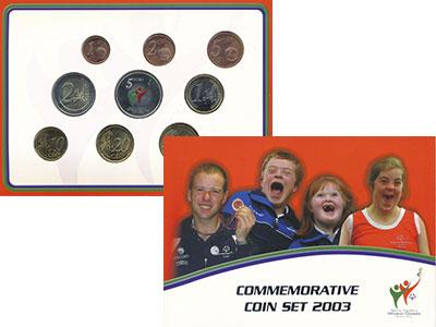 Изображение Подарочные монеты Ирландия Евронабор 2003 года 2003  UNC Набор из восьми моне