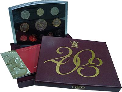 Изображение Подарочные монеты Великобритания Набор ПРУФ 2003 года 2003  Proof Набор из восьми моне