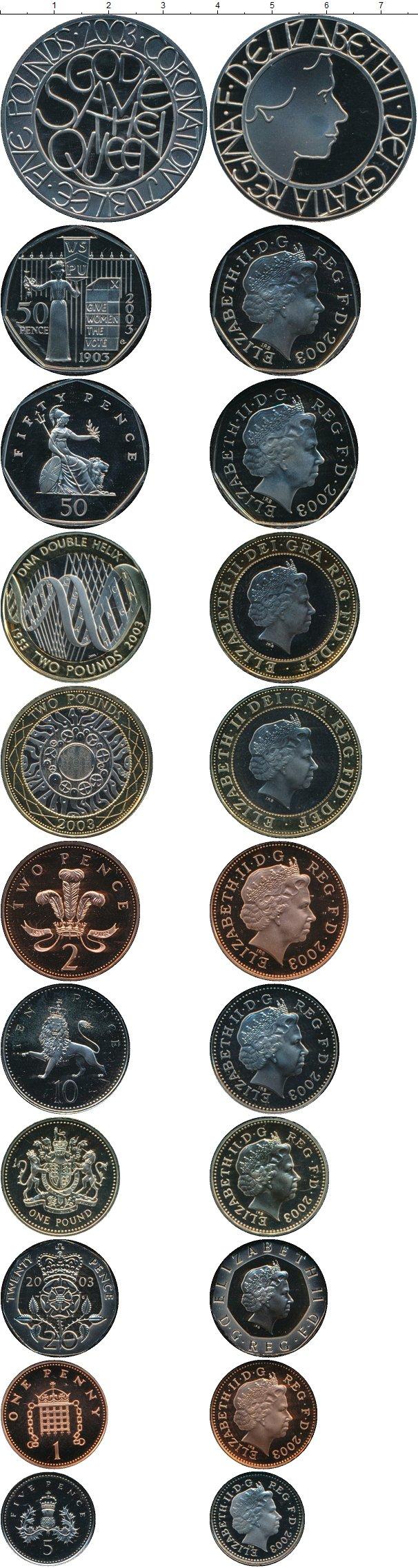 Картинка Подарочные монеты Великобритания Набор ПРУФ 2003 года  2003