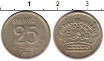 Изображение Монеты Швеция 25 эре 1959 Серебро XF