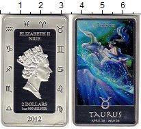 Монета Ниуэ 2 доллара Серебро 2012 Proof фото
