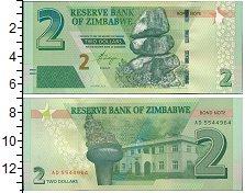 Изображение Банкноты Зимбабве 2 доллара 2016  UNC