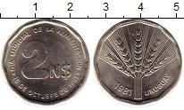 Изображение Монеты Уругвай 2 песо 1981 Медно-никель UNC-