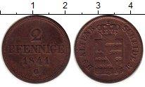 Изображение Монеты Германия Саксен-Альтенбург 2 пфеннига 1841 Медь VF+