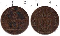 Изображение Монеты Германия Пруссия 3 пфеннига 1831 Медь XF-