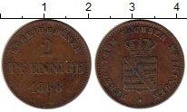 Изображение Монеты Германия Саксе-Мейнинген 2 пфеннига 1868 Медь XF-
