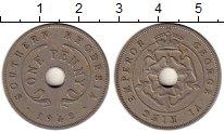Изображение Монеты Великобритания Родезия 1 пенни 1942 Медно-никель XF