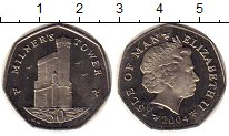Изображение Монеты Великобритания Остров Мэн 50 пенсов 2004 Медно-никель UNC-