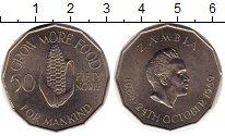 Изображение Монеты Замбия 50 нгвей 1969 Медно-никель UNC