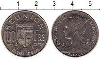 Изображение Монеты Франция Реюньон 100 франков 1964 Медно-никель UNC-