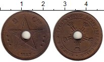 Изображение Монеты Бельгия Бельгийское Конго 2 сантима 1887 Медь XF+