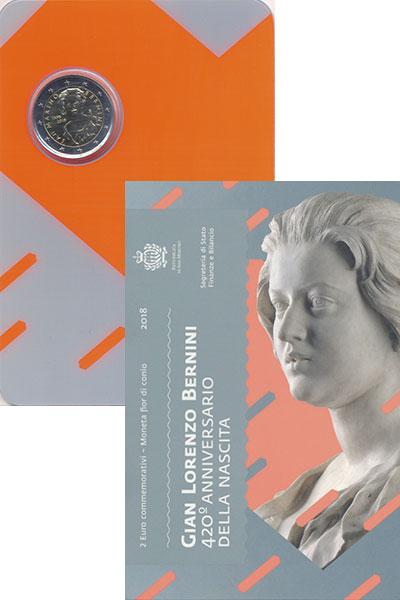 Изображение Подарочные монеты Сан-Марино 2 евро 2018 Биметалл UNC
