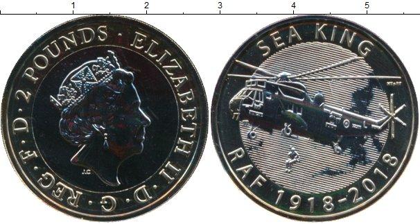 Картинка Подарочные монеты Великобритания 2 фунта Биметалл 2018
