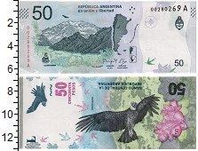 Изображение Банкноты Аргентина 50 песо 2018  UNC Кондор