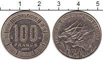 Изображение Монеты Центральная Африка 100 франков 1998 Медно-никель XF