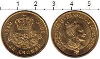 Изображение Монеты Дания 20 крон 2000 Латунь UNC-