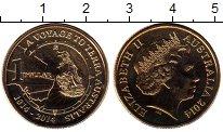Изображение Монеты Австралия 1 доллар 2014 Латунь UNC-