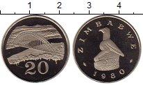 Изображение Монеты Зимбабве 20 центов 1980 Медно-никель Proof-