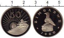 Изображение Монеты Зимбабве 50 центов 1980 Медно-никель Proof