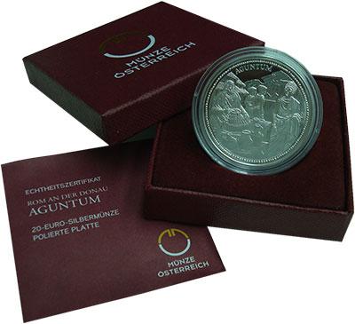 Изображение Подарочные монеты Австрия 20 евро 2011 Серебро Proof `Серия ``Римские имп