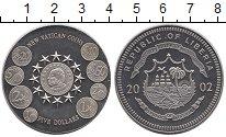 Изображение Монеты Либерия 5 долларов 2002 Медно-никель UNC-