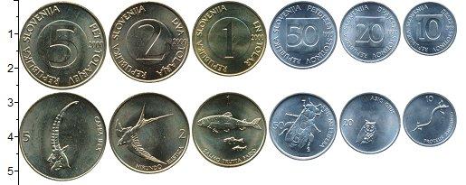 Изображение Наборы монет Словения 2.000 форинтов 0  UNC В набор входит 6 мон