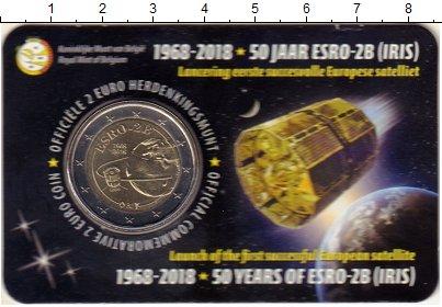 Изображение Подарочные монеты Бельгия 2 евро 2018 Биметалл UNC 50 лет со дня запуск